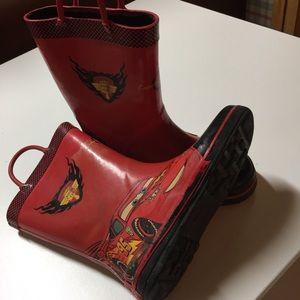 Cars Rubber boots, Lightning McQueen red, Sz 11-12
